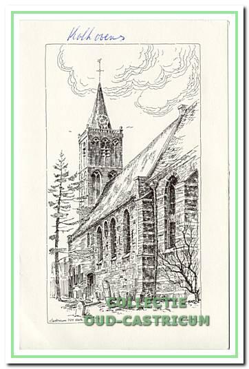 Pentekening van de Pancratius kerk.