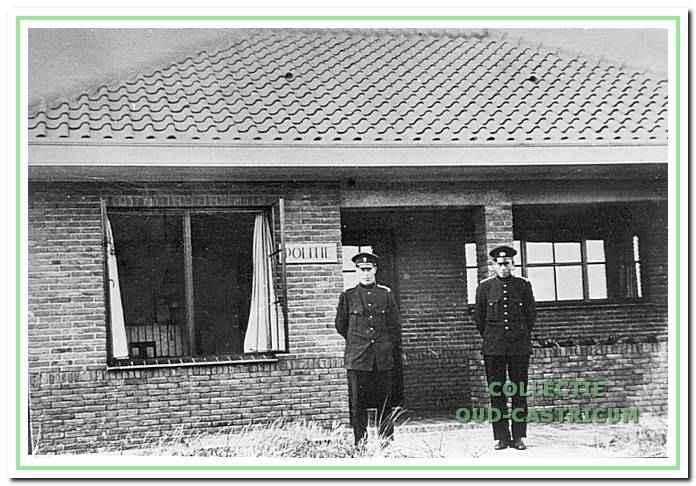 Post van de gemeentepolitie op het strandplateau aan de Zeeweg (1930).