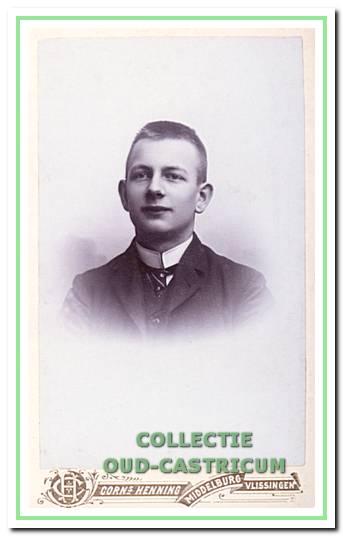 Albert Rommel als student op de Zeevaartschool te Vlissingen.