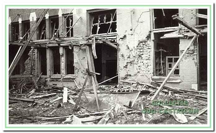 Bombardement op Vrouwen I in augustus 1940.