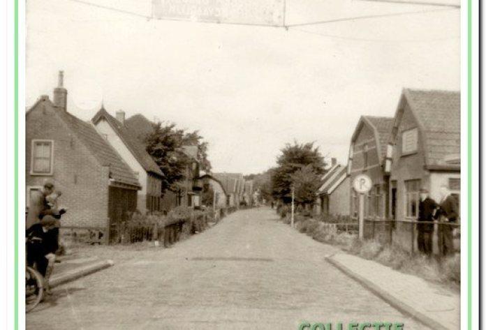 Overzicht Vinkebaan, links vanaf Jan en Siem Ooms (nr. 6) en rechts vanaf Willem Groot (nr. 1).