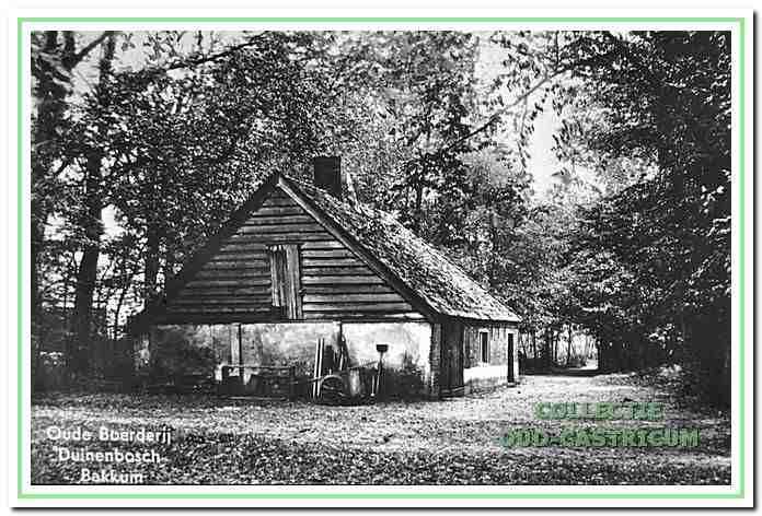 Het voormalige boerderijtje De Kwekerij op het terrein van Duin en Bosch. De open kapberg, voor opslag van hooi, is verdwenen.