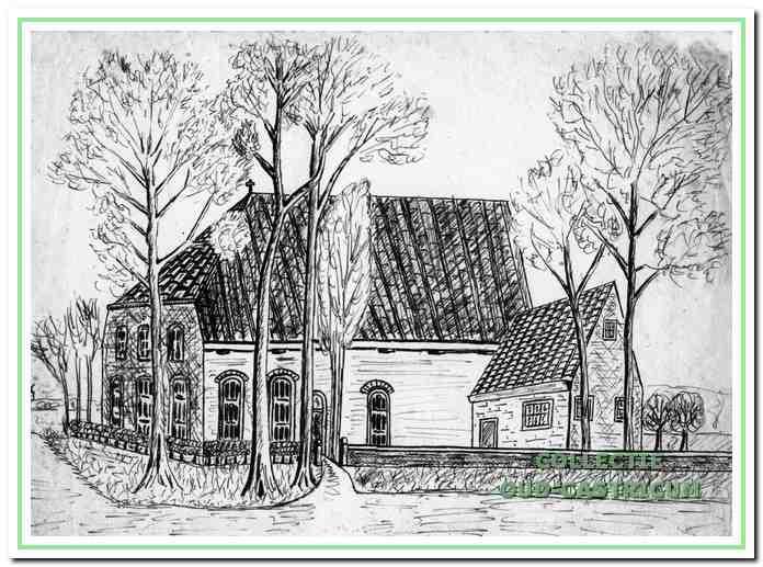 De Schuilkerk, Breedeweg 72 in Castricum, rond 1850.