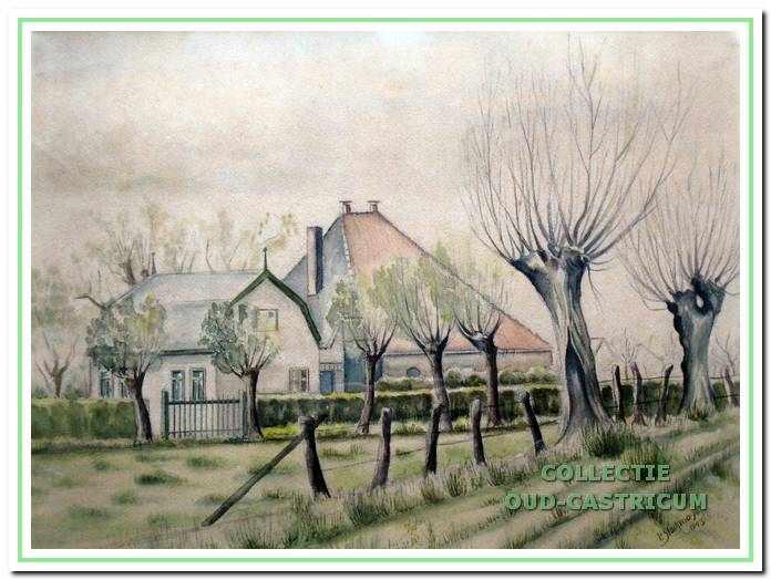 Aquarel van Paul Stockmayer, gemaakt in 1944.
