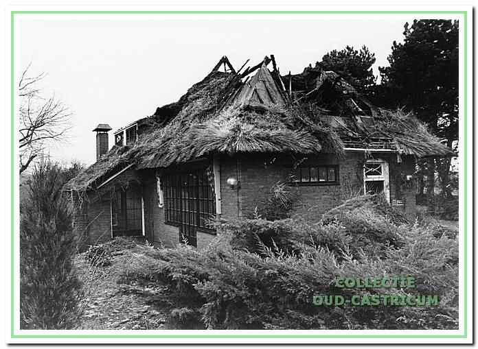 Villa Doornduyn na de brand in 1993 aan de Duinweg 2 in Castricum.