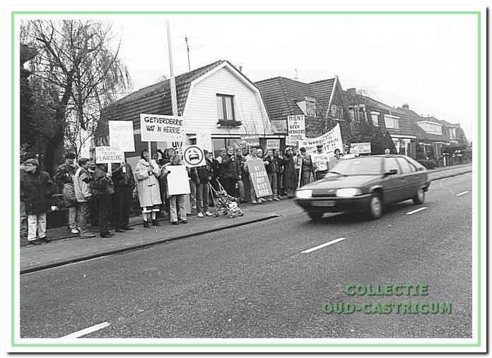 1993, Ruiterweg. Protest tegen verkeersplannen in centrum.
