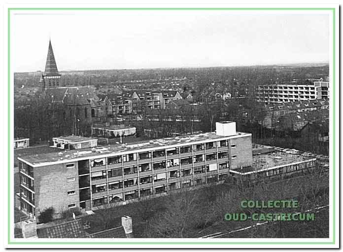 Zicht op De Boogaert vanaf een flat van De Loet.