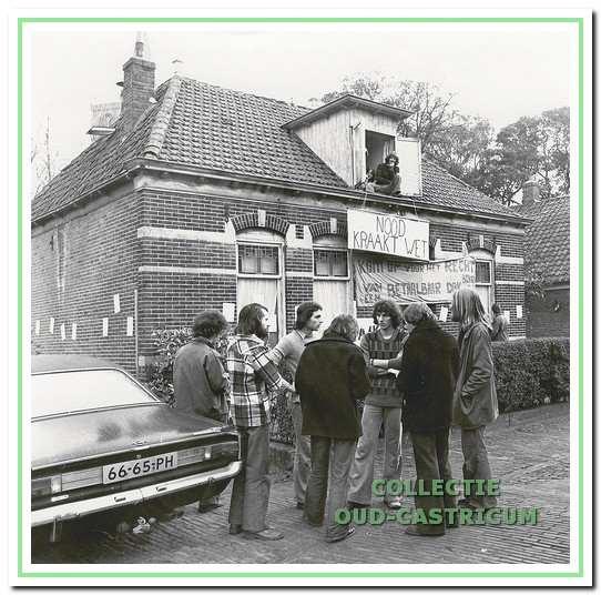 Rond 1983, woningkraak aan de Overtoom.