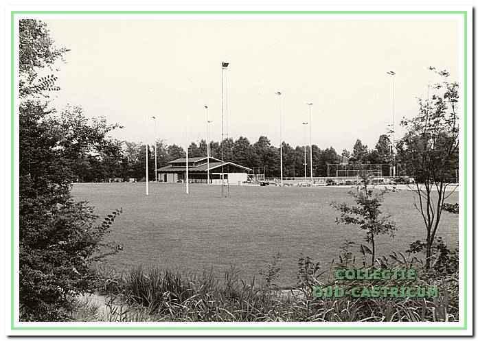 Het clubgebouw van de rugbyclub Cas RC op Wouterland.