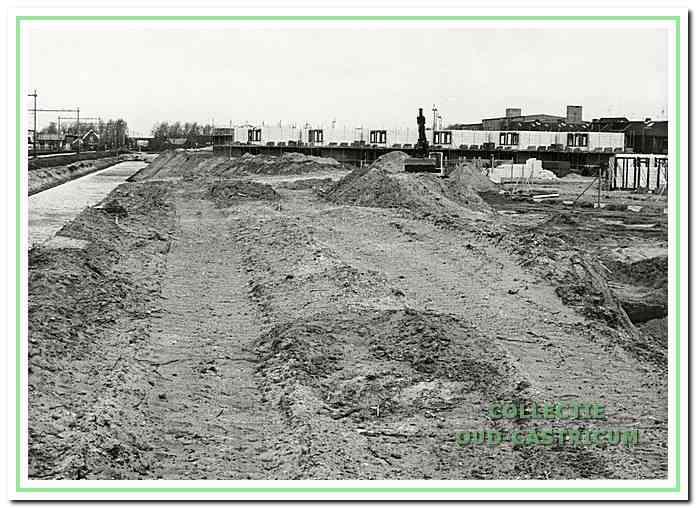 Bouw van nieuwe woningen bij de Santmark in Castricum.