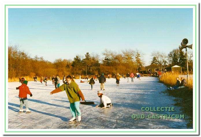 IJspret op de ijsbaan van Vereniging Kennemer IJsbaan.