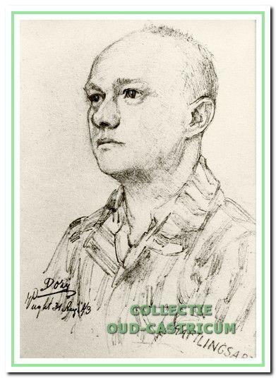 Dokter Leenaers gevangenisarts in het concentratie kamp Vught (tekening van Reinhart Dozy).