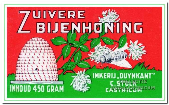 Grapje: bijenhoning uit eigen Gulle tuin.