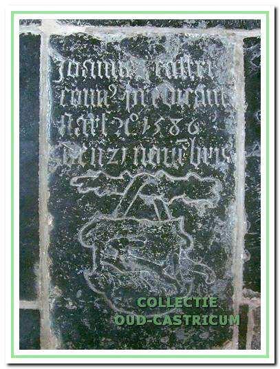 Zerk van Jan Pietersz. Castricum, pastoor van Castricum, die tijdens de opstand tegen Spanje naar Embden vluchtte. Na zijn terugkeer eerst predikant te Den Haag en later (1584 - 1586) te Castricum en Heemskerk.