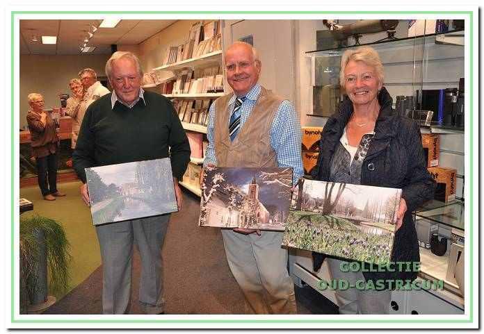 Prijsuitreiking van de fotowedstrijd die aan 'Beleef Castricum' was verbonden.