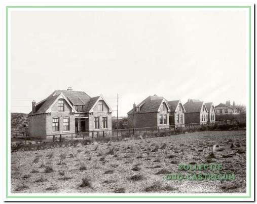 De woonhuizen 17 tot en met 27 (alleen oneven) van woningbouwvereniging Goed Wonen kort na de bouw in 1913.
