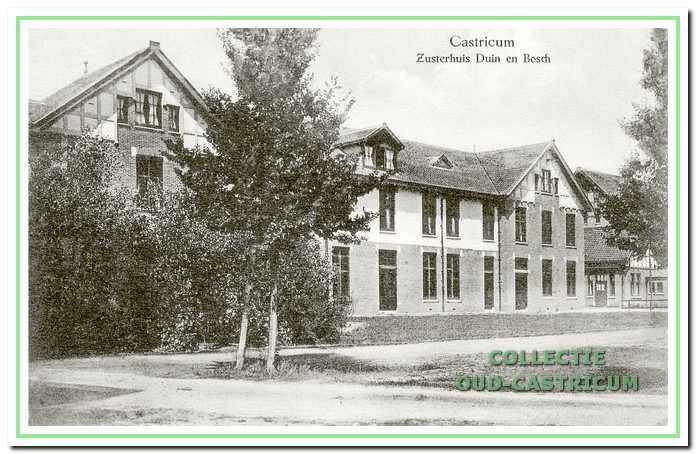 Het zusterhuis, het latere lescentrum. Het gebouw staat links van het administratiegebouw.