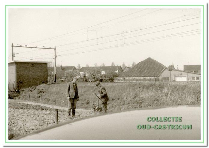 Ook in Castricum werd er vroeger al langs de spoorlijn getuind.