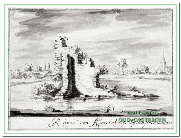 Ruïne van Kronenburg - circa 1740