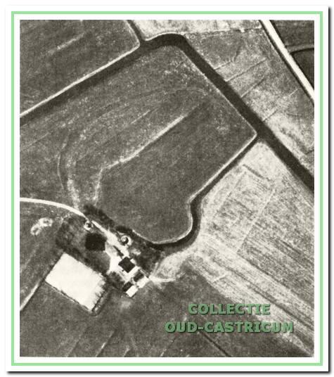Luchtfoto van Kronenburg uit 1959