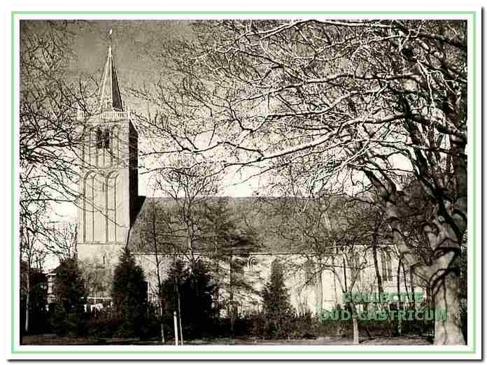 De Pancratiuskerk, waar in 1584 de eerste predikant Jan Pietersz. zijn intrede deed.