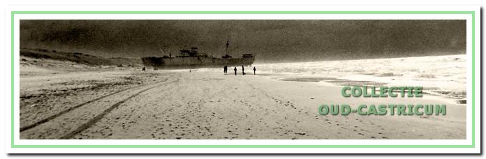 De Wan Chun op het strand van Castricum aan Zee.