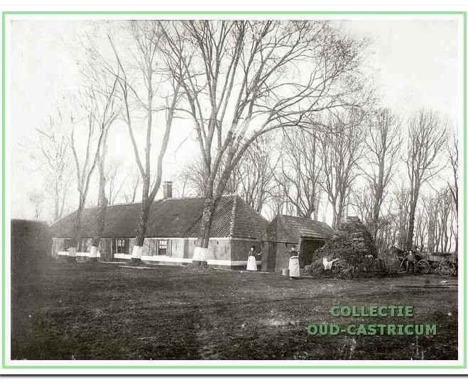 Foto van de boerderij van de weduwe Asjes. Deze boerderij is voor 1914 gesloopt en stond bij Fochteloo, het huidige PWN-kantoor.