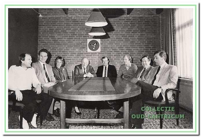 Het SCC-bestuur tijdens het 10-jarig bestaan in 1983.