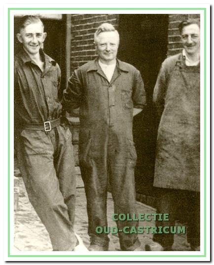1948: Dirk Liefting, Freek de Jong en Arie Tervoort.