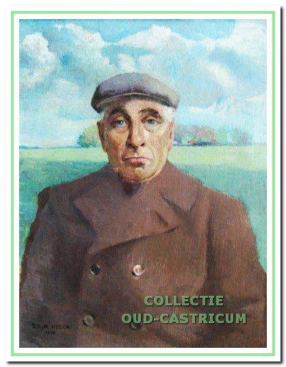 Het portret, in 1944 geschilderd door de Castricumse kunstschilder Cor Heeck, hing in een bovenzaaltje van de oude dorpskerk.
