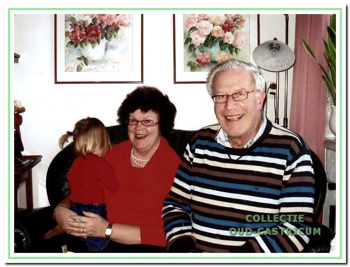 Arie Meijne, de laatste Meijne die op de boerderij woonde, met echtgenote Nel de Bree.