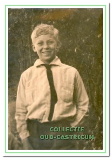 Henk Koeman op 12-jarige leeftijd.