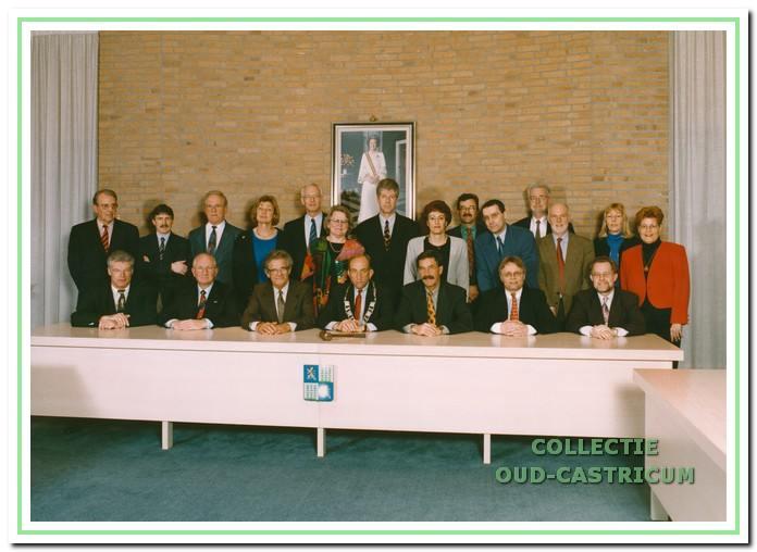 Afscheid van de raad begin april 1998.