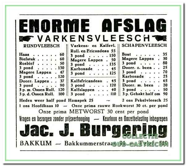 Advertentie uit de (negentien)dertiger jaren.