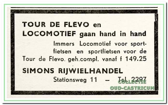 Advertentie uit 1960.