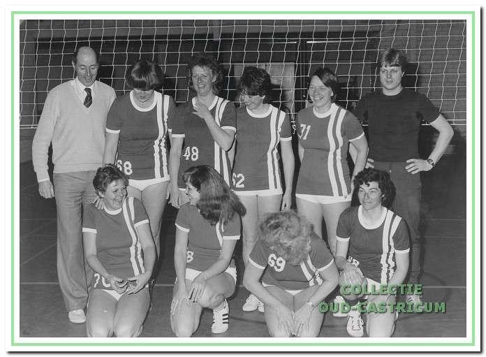 Het vierde damesteam dat in 1983 kampioen werd.