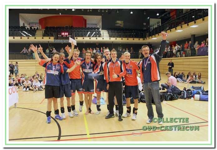 De A-jongens van Croonenburg werden derde van Nederland in 2012.