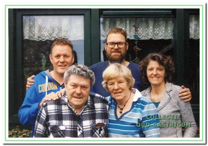 Het gezin van Henk Heideman.