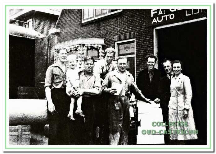 Medewerkers van De Wit in de jaren 1950.