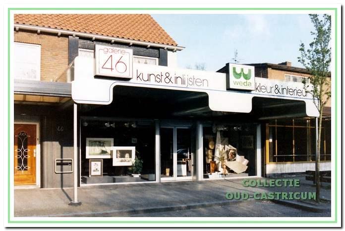 De winkel in de Torenstraat in 1990.