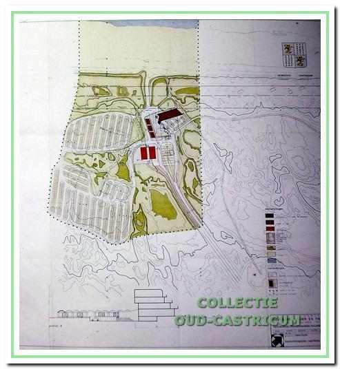 Plan voor het strand van Castricum aan Zee, 1970.