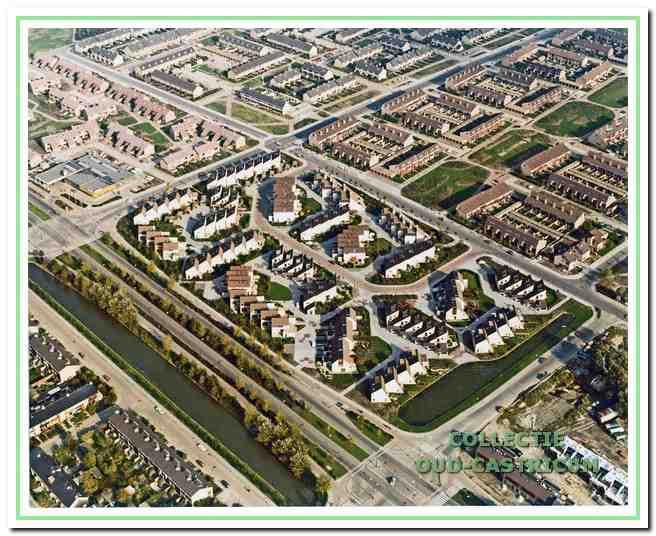 Luchtfoto van Noordend in Castricum, 1978.
