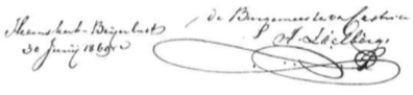 Ondertekening van de afscheidsbrief.