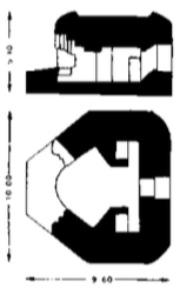 Geschutsbunker, schematisch.