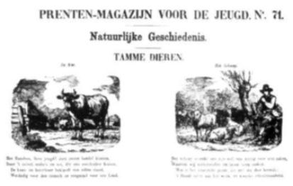 Prentenmagazijn voor de jeugd nr. 71: Natuurlijke geschiedenis - Tamme dieren.