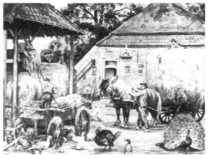 'De laatste hooivracht', een van de bekende schoolplaten van Scheepstra en Walstra.