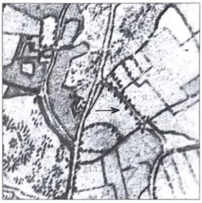 Detail van de kaart uit de Grote Historische Provincie Atlas met kaartmateriaal uit de periode 1849 - 1859.