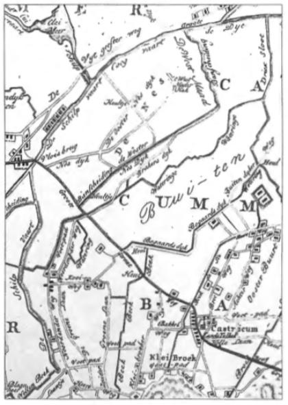 Op een detail van een kaart uit 1825 zien we dat de Noordenderweg toen hetzelfde verloop had als de huidige Brakersweg en dat bij de scherpe bocht er een voetpad rechtdoor liep in de richting van de Akmaarderstraatweg. De Tweede Groenelaan liep nog een kort stukje door na de Kooiweg en sloot aan op de Noordenderweg na de tweede bocht.