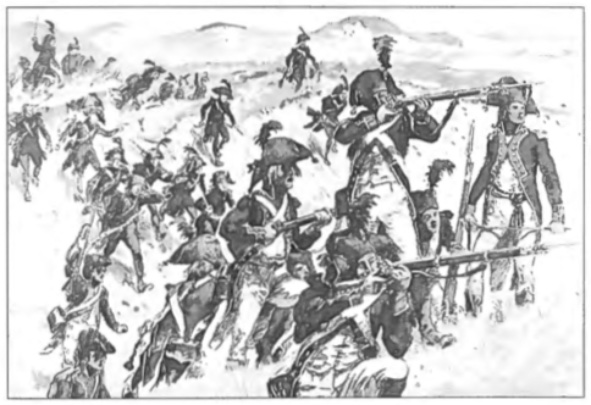 Een charge in de duinen: 5e Halve Brigade infanterie en 1e batalon jagers in 1799.