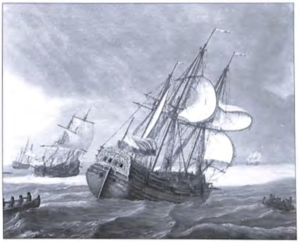 Oost-Indië vaarder uit het midden van de 18e eeuw.